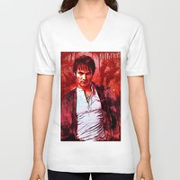 bill V-neck T-shirts featuring Bill Compton by Sirenphotos
