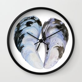 Heart Mussel Wall Clock