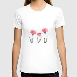 Spring Flower Trio Blush  T-shirt