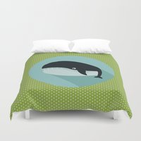 the whale Duvet Covers featuring Whale by Mr and Mrs Quirynen