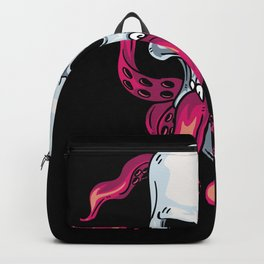 Skull And Octopus Backpack