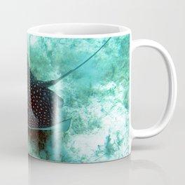 Watercolor Ray, Spotted Eagle Ray 23, St John, USVI Coffee Mug