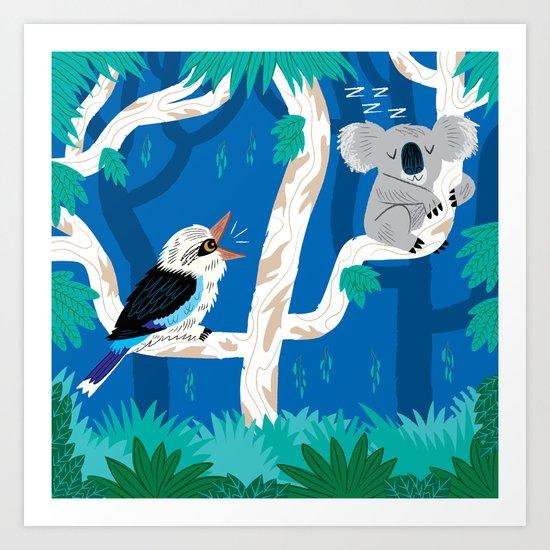 The Koala and the Kookaburra (version 2) Art Print