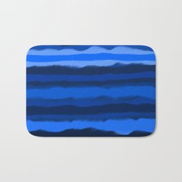 Hazy Blue Stripes Bath Mat
