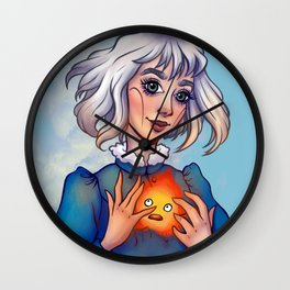 Sophie & Calcifer Wall Clock