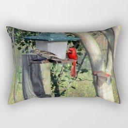 Curious Neighbors Rectangular Pillow