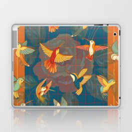 Hummingbirds in Orange Laptop & iPad Skin