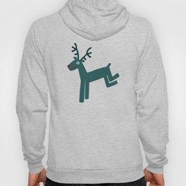 Reindeer-Teal Hoody