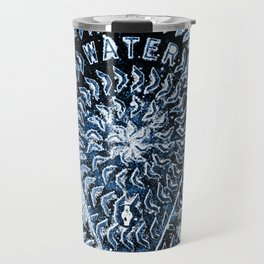 Blue water abstract pattern Travel Mug