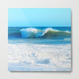 Surf and Spray Metal Print