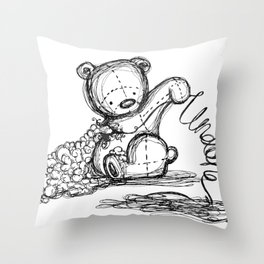 Undone Throw Pillow