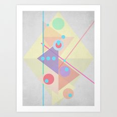 Geometric pastel 01 Art Print