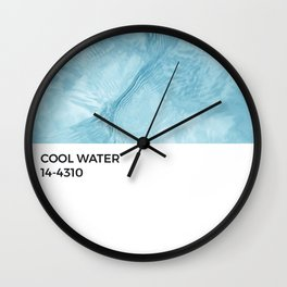 Cool Water Crystal Blue Pantone Chip Wall Clock