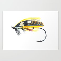 Salmon Fly Art Print