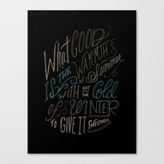 WINTER - Steinbeck Quote Canvas Print