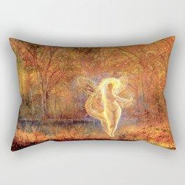Dame Autumn by John Atkinson Grimshaw Rectangular Pillow