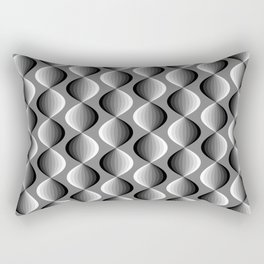Abstract geometric grayscale pattern  Rectangular Pillow