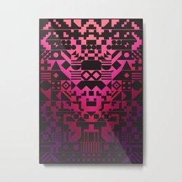 Digital Inkblot Metal Print