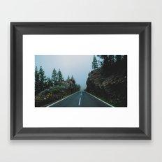 Foggy driving Framed Art Print