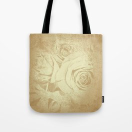 Roses in vintage style with texture Tote Bag