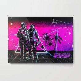 Ela and Zofia  Operator Metal Print
