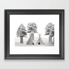 teepee Framed Art Print