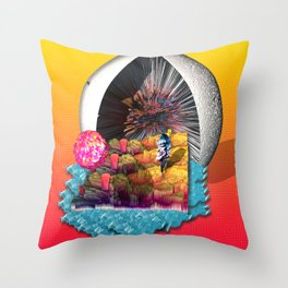 Low-Poly Paradise Throw Pillow