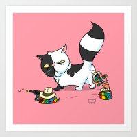 Mitten The Kitten Art Print