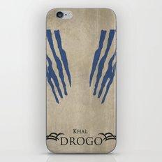 Khal Drogo - Minimalist Poster iPhone & iPod Skin