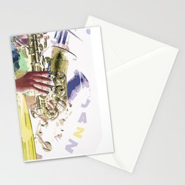 Gentle Sax Stationery Cards