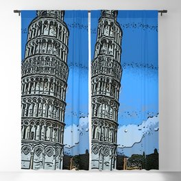 Leaning tower of Pisa bywhacky Blackout Curtain