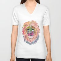 courage V-neck T-shirts featuring Courage by Jhoanna Monte Aranez