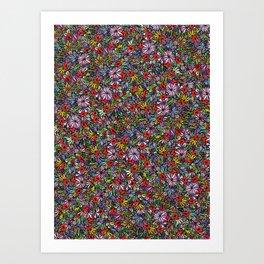 Wild Garden Color Art Print