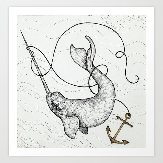 """Uncharted Waters"" art print Art Print"