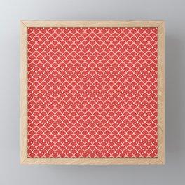 Small scallops in fabulous fiesta red Framed Mini Art Print