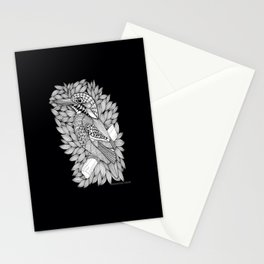 Zentangle Halcyon Black and White Illustration Stationery Cards