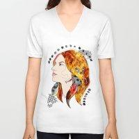 bugs V-neck T-shirts featuring bugs by Dagmara Jagodzinska