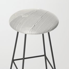 Relief [1]: an abstract, textured piece in white by Alyssa Hamilton Art Bar Stool