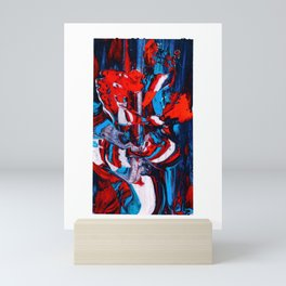 Tricolored Abstract Screen Printing Texture Mini Art Print