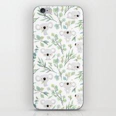 Koala and Eucalyptus Pattern iPhone Skin