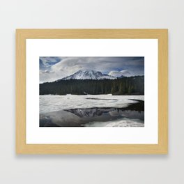 Mt. Rainier & Reflection Lake Framed Art Print