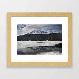 Mt. Rainier & Reflection Lake Framed Art Print