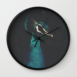peacock and proud Wall Clock