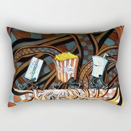 Night at the Route 66 Drive-In Movie Theater Rectangular Pillow