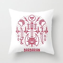 Barbarian Emblem Throw Pillow