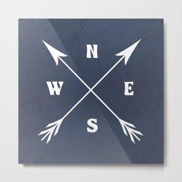 Compass arrows Metal Print