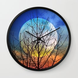 The moonwatcher Wall Clock