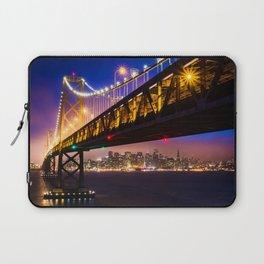 Bay Bridge at Sunset Laptop Sleeve