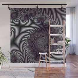 Purple and Gray Wall Mural