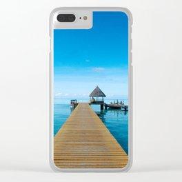 Tahiti Boat Dock Clear iPhone Case